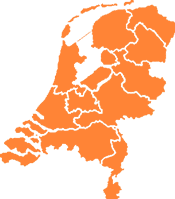 Landkaart Nederland